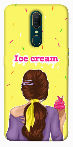 Чехол itsPrint Ice cream girl для OPPO F11 / A9 / A9X