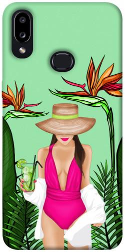 Чехол itsPrint Tropical girl для Samsung Galaxy A10s