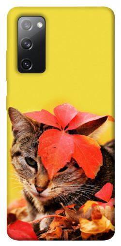 Чехол itsPrint Осенний котик для Samsung Galaxy S20 FE