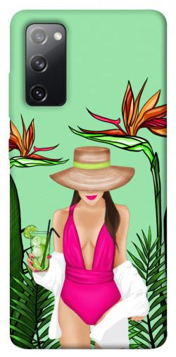 Чехол itsPrint Tropical girl для Samsung Galaxy S20 FE