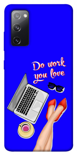 Чехол itsPrint Do work you love для Samsung Galaxy S20 FE