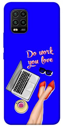Чехол itsPrint Do work you love для Xiaomi Mi 10 Lite