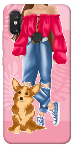 Чехол itsPrint Girl and corgi для Xiaomi Mi 8