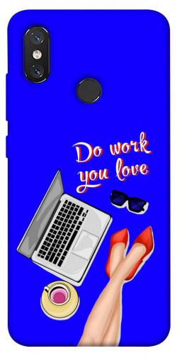 Чехол itsPrint Do work you love для Xiaomi Mi 8
