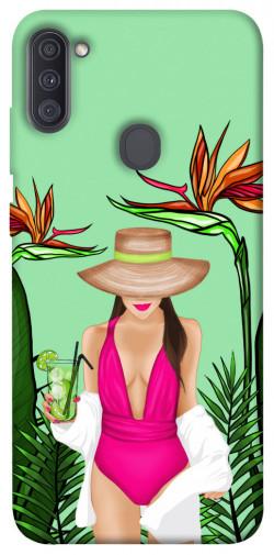 Чехол itsPrint Tropical girl для Samsung Galaxy A11