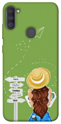 Чехол itsPrint Travel girl для Samsung Galaxy A11