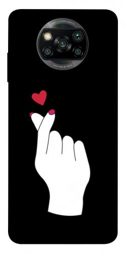 Чехол iPrint Сердце в руке для Xiaomi Poco X3 NFC