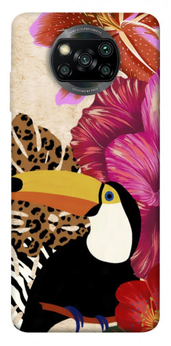 Чехол itsPrint Тукан среди цветов для Xiaomi Poco X3 NFC