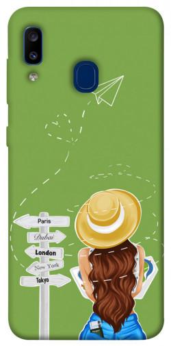 Чехол itsPrint Travel girl для Samsung Galaxy A20 / A30