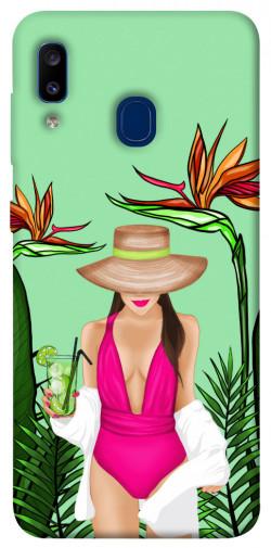 Чехол itsPrint Tropical girl для Samsung Galaxy A20 / A30