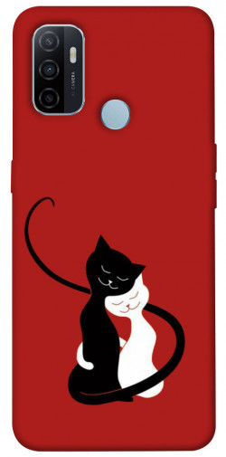 Чехол iPrint Влюбленные коты для Oppo A53 / A32 / A33