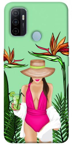 Чехол itsPrint Tropical girl для Oppo A53 / A32 / A33