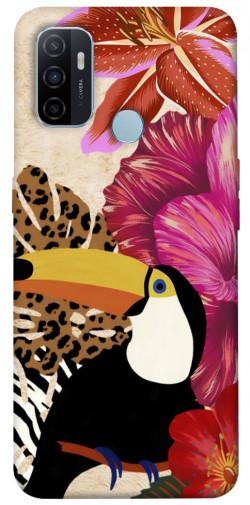 Чехол itsPrint Тукан среди цветов для Oppo A53 / A32 / A33