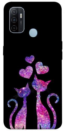 Чехол iPrint Космические коты для Oppo A53 / A32 / A33