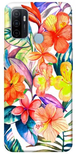 Чехол itsPrint Цветочный коктейль для Oppo A53 / A32 / A33