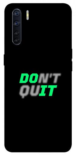 Чехол itsPrint Don't quit для Oppo A91