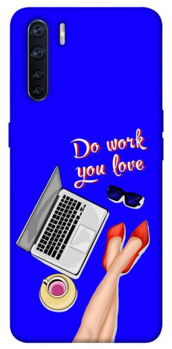 Чехол itsPrint Do work you love для Oppo A91