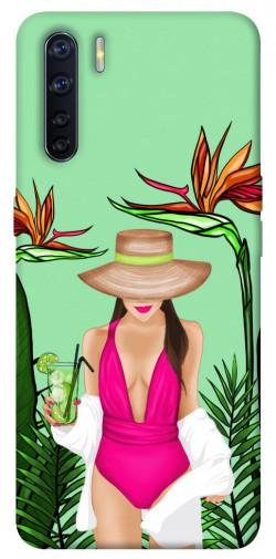 Чехол itsPrint Tropical girl для Oppo A91