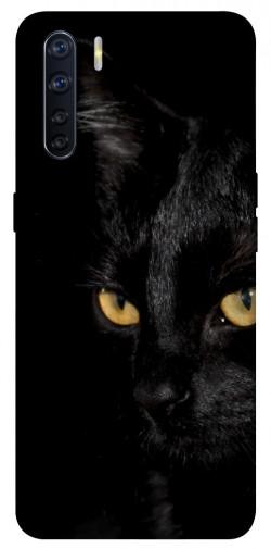 Чехол itsPrint Черный кот для Oppo A91