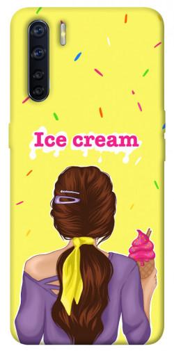Чехол itsPrint Ice cream girl для Oppo A91