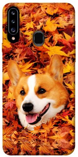 Чехол itsPrint Корги в листьях для Samsung Galaxy A20s