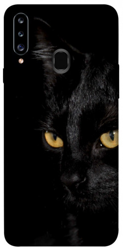 Чехол itsPrint Черный кот для Samsung Galaxy A20s