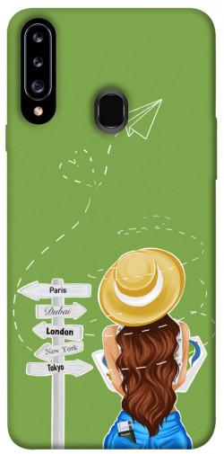 Чехол itsPrint Travel girl для Samsung Galaxy A20s
