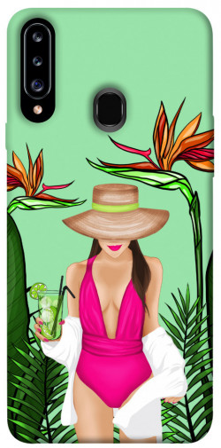 Чехол itsPrint Tropical girl для Samsung Galaxy A20s