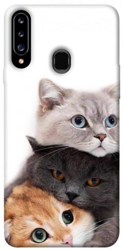 Чехол itsPrint Три кота для Samsung Galaxy A20s