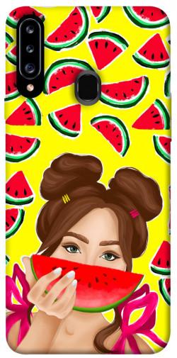 Чехол itsPrint Watermelon girl для Samsung Galaxy A20s