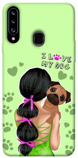 Чехол itsPrint Love my dog для Samsung Galaxy A20s