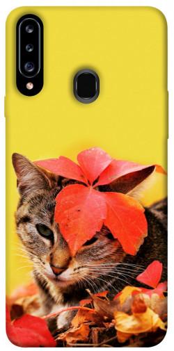 Чехол itsPrint Осенний котик для Samsung Galaxy A20s