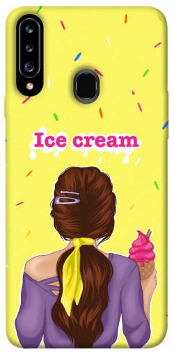Чехол itsPrint Ice cream girl для Samsung Galaxy A20s