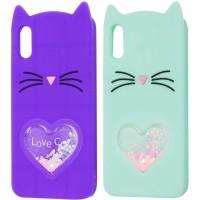 """Силиконовый чехол Love Cat 3D для Apple iPhone X (5.8"""")"""