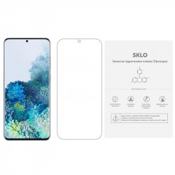 Защитная гидрогелевая пленка SKLO (экран) (тех.пак) для Samsung i919 Galaxy S duos