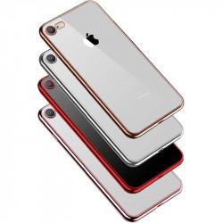 """Прозрачный силиконовый чехол с глянцевой окантовкой Full Camera для Apple iPhone 7/8/SE(2020) (4.7"""")"""