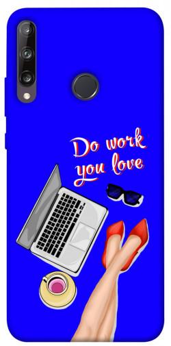 Чехол itsPrint Do work you love для Huawei P40 Lite E / Y7p (2020)