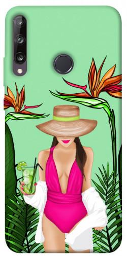 Чехол itsPrint Tropical girl для Huawei P40 Lite E / Y7p (2020)