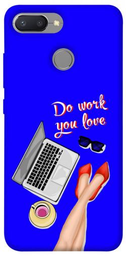 Чехол itsPrint Do work you love для Xiaomi Redmi 6