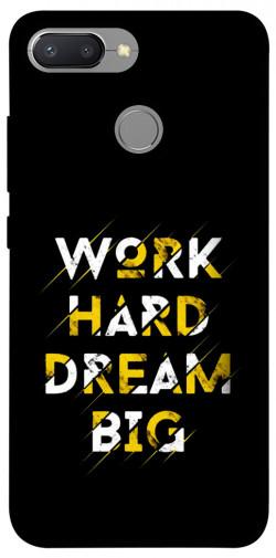 Чехол itsPrint Work hard для Xiaomi Redmi 6