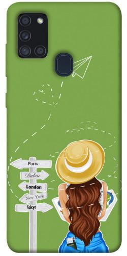 Чехол itsPrint Travel girl для Samsung Galaxy A21s