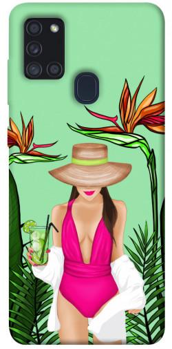 Чехол itsPrint Tropical girl для Samsung Galaxy A21s