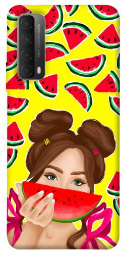Чехол itsPrint Watermelon girl для Huawei P Smart (2021)