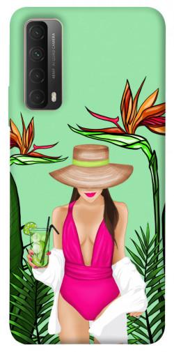 Чехол itsPrint Tropical girl для Huawei P Smart (2021)