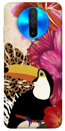 Чехол itsPrint Тукан среди цветов для Xiaomi Poco X2