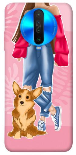 Чехол itsPrint Girl and corgi для Xiaomi Poco X2