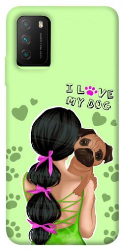 Чехол itsPrint Love my dog для Xiaomi Poco M3