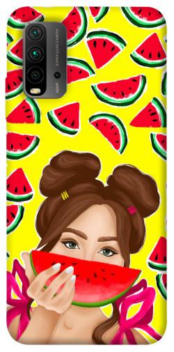 Чехол itsPrint Watermelon girl для Xiaomi Redmi Note 9 4G / Redmi 9 Power / Redmi 9T