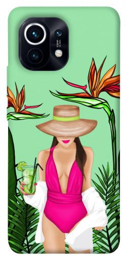 Чехол itsPrint Tropical girl для Xiaomi Mi 11