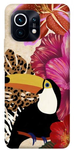 Чехол itsPrint Тукан среди цветов для Xiaomi Mi 11